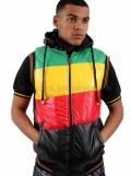 Raw Blue Rasta Body Warmer Gilet Vest