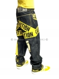 Dirty Money Yellow Caution Jeans