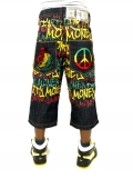 Dirty Money Peace Lion Rasta SHORTS