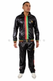 Raw Blue Full Zip Rasta Tracksuit Black