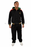 Raw Blue Full Zip Hooded Rasta Tracksuit