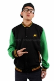 Raw Blue Rasta Lion Of Judah Varsity Celtic Jacket