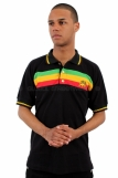 Raw Blue Rasta Lion Of Judah Polo Shirt