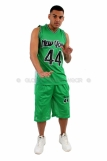 New York Basketball Jersey Vest & Shorts set Green