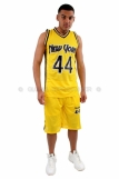 New York Basketball Jersey Vest & Shorts set Yellow