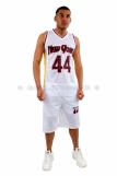 New York Basketball Jersey Vest & Shorts set White