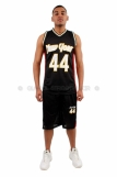 New York Basketball Jersey Vest & Shorts set Black