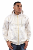 Tough Face Golden Foil Print Hoodie White