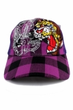 Check Diamante embroidered Tiger One Size Trucker Cap