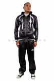 Raw Blue Full Zip Shiny Tracksuit Black