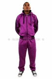 NY New York Fleece Hooded Full Tracksuit Purple