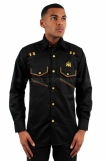 Raw Blue Rasta Lion Of Judah Formal Casual Shirts Black
