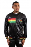 Raw Blue Full Zip Rasta Ghana Track Jacket Black