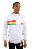 Raw Blue Full Zip Rasta Ghana Track Jacket White