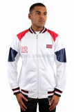 Raw Blue Full Zip British Flag Track Jacket White