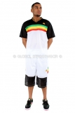 Raw Blue Rasta Lion Of Juddah Basketball Jersey Vest & Shorts set