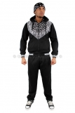 Raw Blue Paisley Bandanna Full Zip Fleece Hooded Tracksuit
