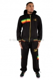 Raw Blue Full Zip Fleece Hooded Rasta Lion Of Juddah Tracksuit 3884