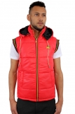 Raw Blue Rasta Lion Of Juddah  Body Warmer Gilet Vest Red 3850