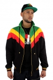 Raw Blue Full Zip Rasta Track Jacket Black 3986