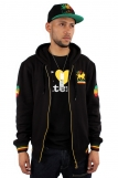 Raw Blue Full Zip Rasta Lion Of Juddah Hoodie 3984