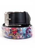 Love Kills SlowlyTattoo Printed 3 Row Stud Snap on Belt # PF19