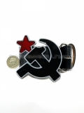 Russian Hammer & Sickle Star Belt & Buckle