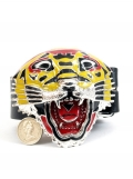 Yellow Tiger Belt & Buckle